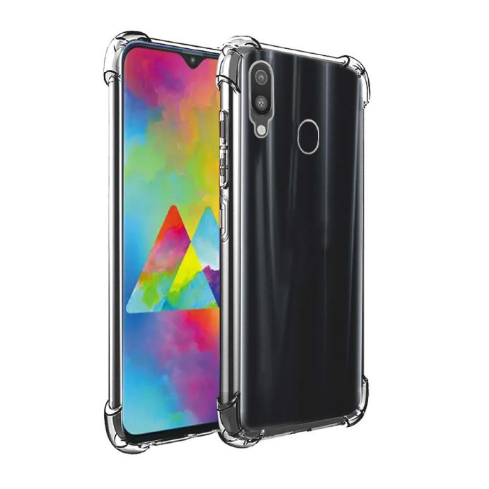Samsung Galaxy M20 Transparente Stoßstangenhülle - Klare Hülle Silikon TPU Anti-Shock