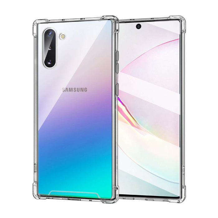 Samsung Galaxy Note 10 Plus Transparant Bumper Hoesje - Clear Case Cover Silicone TPU Anti-Shock