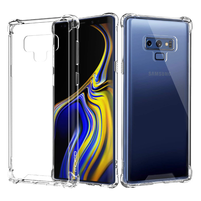 Samsung Galaxy Note 9 Transparant Bumper Hoesje - Clear Case Cover Silicone TPU Anti-Shock