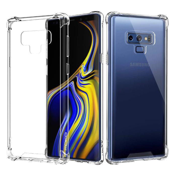 Samsung Galaxy Note 9 Transparente Stoßstangenhülle - Klare Hülle Silikon TPU Anti-Shock