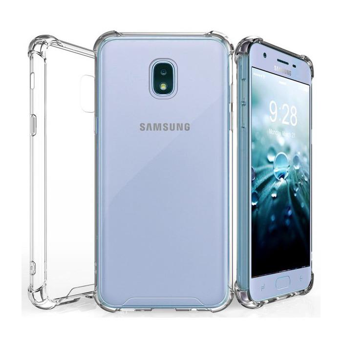 Coque Bumper Transparente Samsung Galaxy J7 - Coque Transparente Silicone TPU Anti-Choc