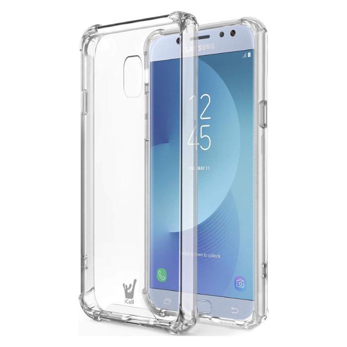 Samsung Galaxy J5 Transparente Stoßstangenhülle - Klare Hülle Silikon TPU Anti-Shock