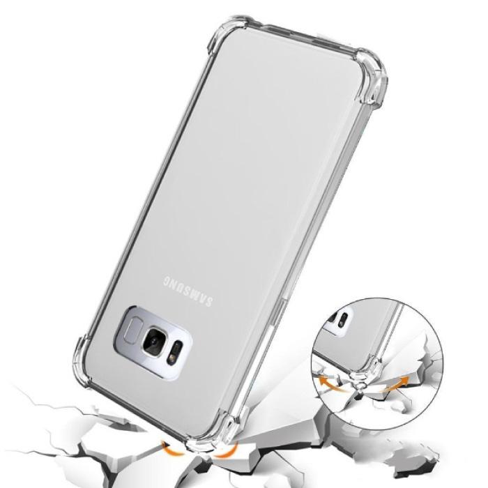 Samsung Galaxy J3 Transparente Stoßstangenhülle - Klare Hülle Silikon TPU Anti-Shock