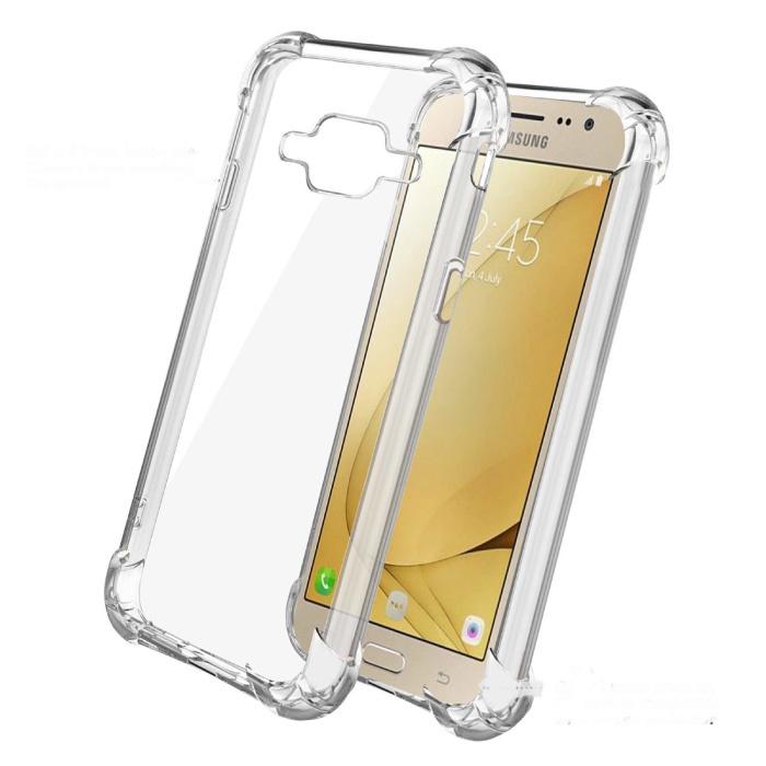 Samsung Galaxy J2 Transparente Stoßstangenhülle - Klare Hülle Silikon TPU Anti-Shock
