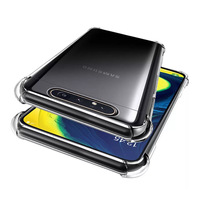 Samsung Galaxy A80 Transparente Stoßstangenhülle - Klare Hülle Silikon TPU Anti-Shock
