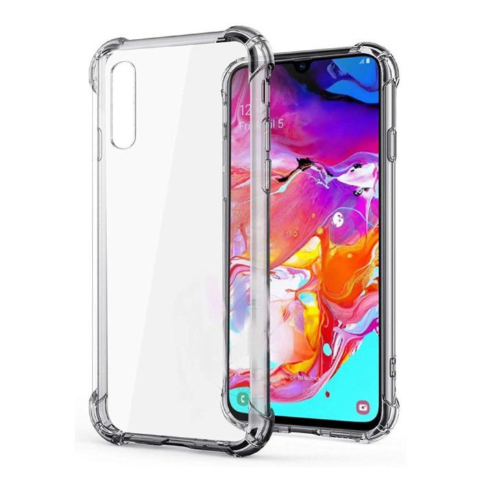 Samsung Galaxy A70 Transparant Bumper Hoesje - Clear Case Cover Silicone TPU Anti-Shock