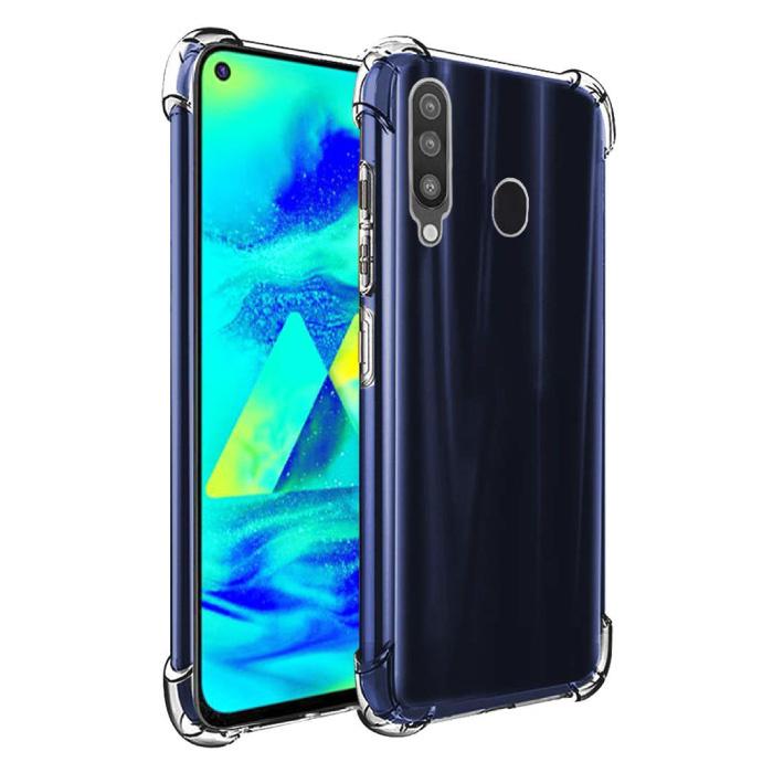 Coque Bumper Transparente Samsung Galaxy A60 - Coque Transparente Silicone TPU Anti-Choc