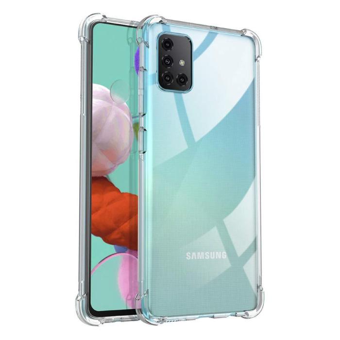 Samsung Galaxy A51 Transparente Stoßstangenhülle - Klare Hülle Silikon TPU Anti-Shock