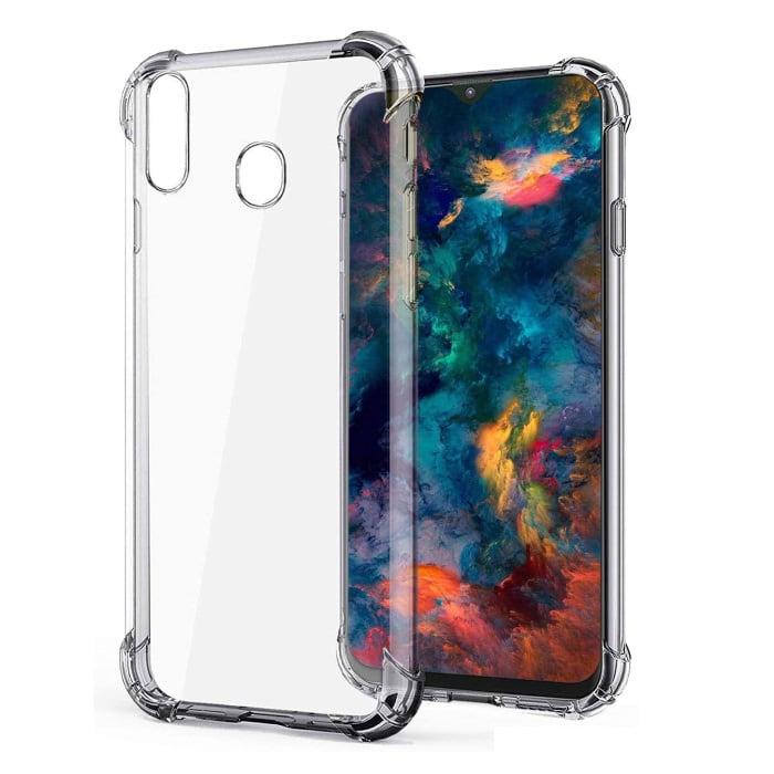Samsung Galaxy A40 Transparant Bumper Hoesje - Clear Case Cover Silicone TPU Anti-Shock