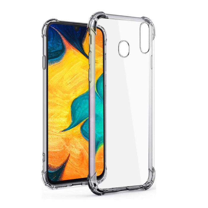 Samsung Galaxy A30 Transparant Bumper Hoesje - Clear Case Cover Silicone TPU Anti-Shock