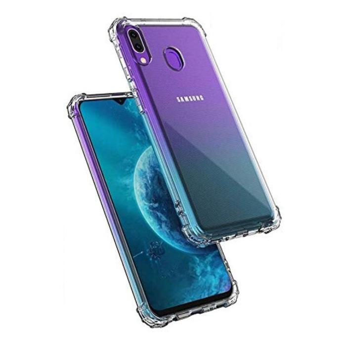 Samsung Galaxy A20 Transparente Stoßstangenhülle - Klare Hülle Silikon TPU Anti-Shock