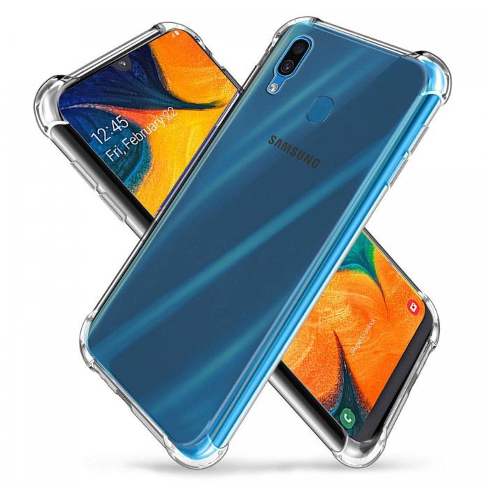 Coque Bumper Transparente Samsung Galaxy A10 - Coque Transparente Silicone TPU Anti-Choc