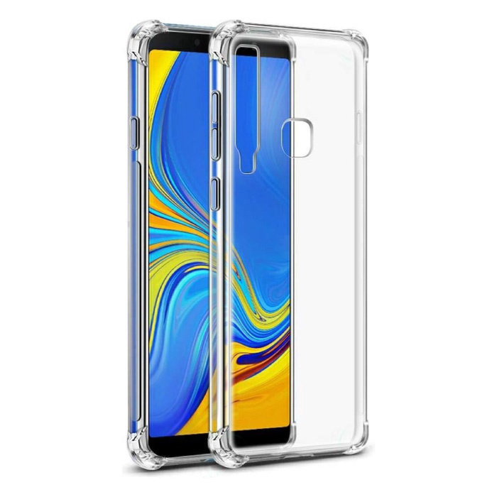 Samsung Galaxy A9 Transparant Bumper Hoesje - Clear Case Cover Silicone TPU Anti-Shock
