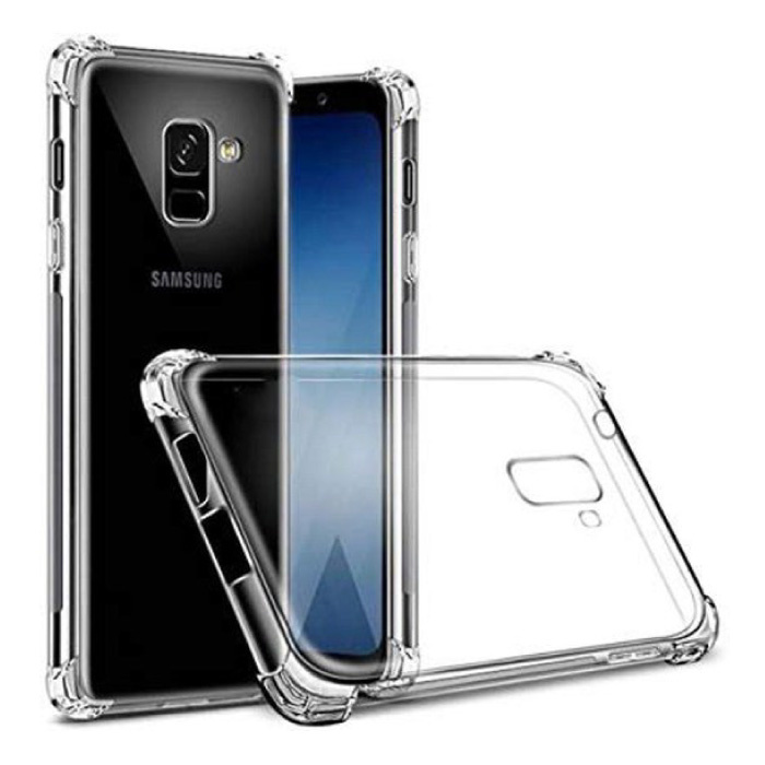 Samsung Galaxy A8 Transparente Stoßstangenhülle - Klare Hülle Silikon TPU Anti-Shock