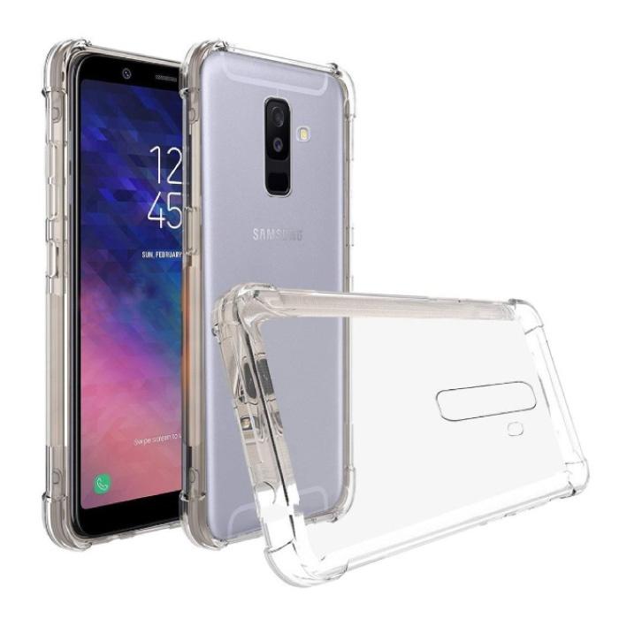 Samsung Galaxy A6 Transparente Stoßstangenhülle - Klare Hülle Silikon TPU Anti-Shock