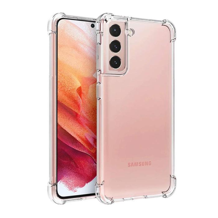 Coque Bumper Transparente Samsung Galaxy S21 - Coque Transparente Silicone TPU Anti-Choc