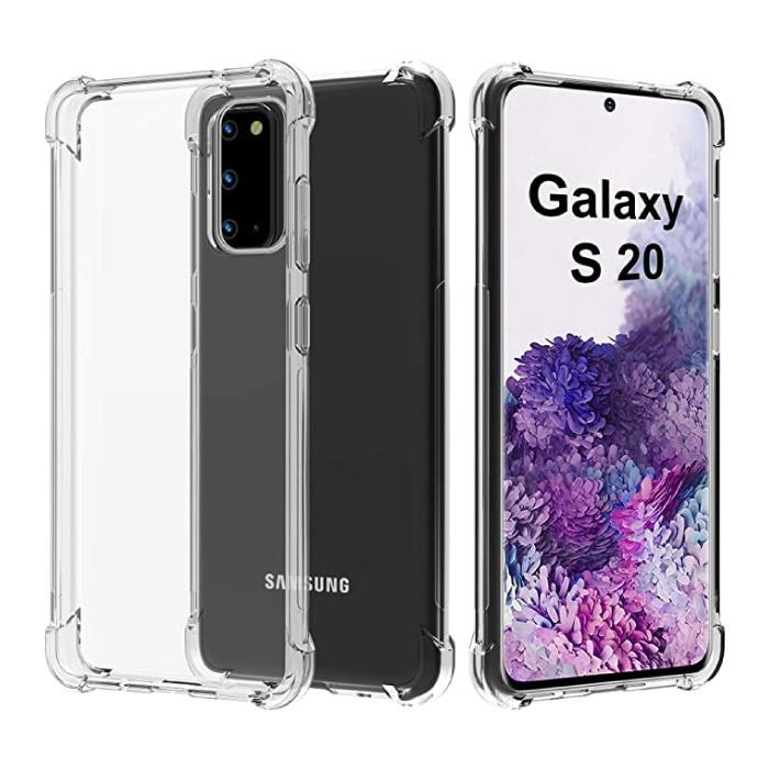 Samsung Galaxy S20 Ultra Transparant Bumper Hoesje - Clear Case Cover Silicone TPU Anti-Shock
