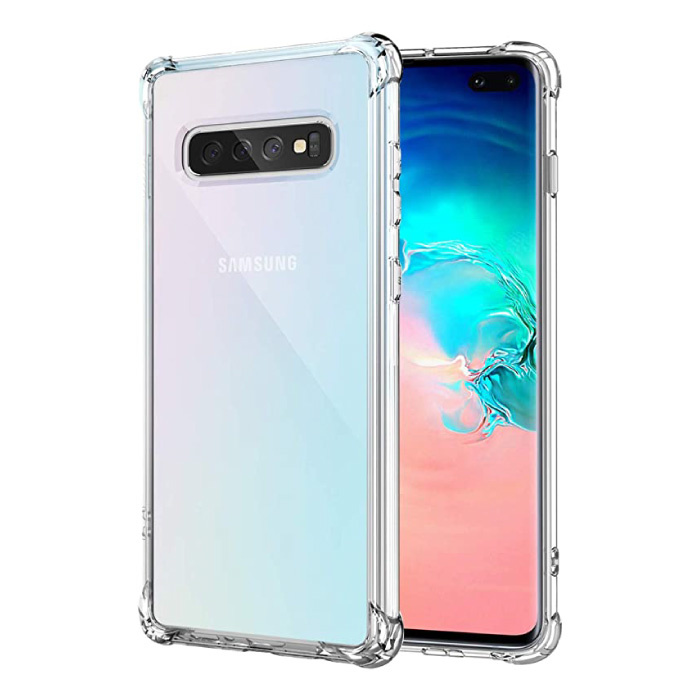 Coque Bumper Transparente Samsung Galaxy S10 Plus - Coque Transparente Silicone TPU Anti-Choc