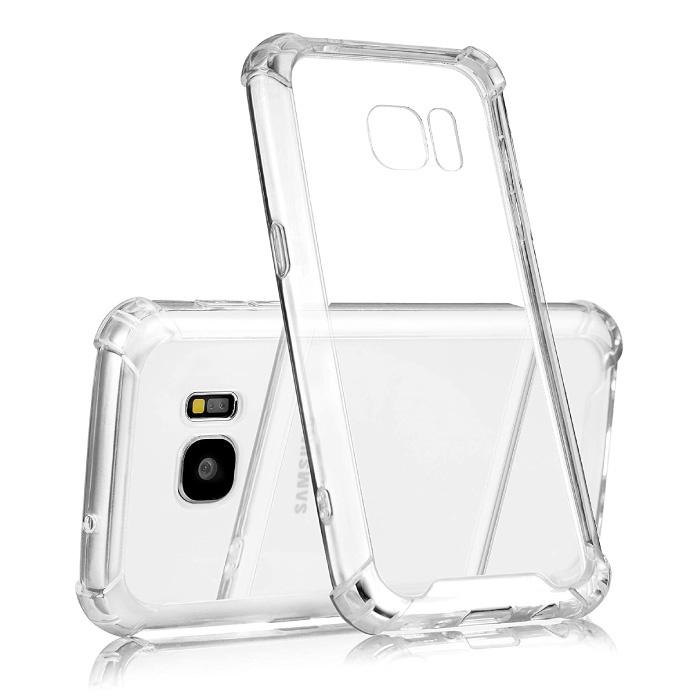 Samsung Galaxy S7 Transparente Stoßstangenhülle - Klare Hülle Silikon TPU Anti-Shock