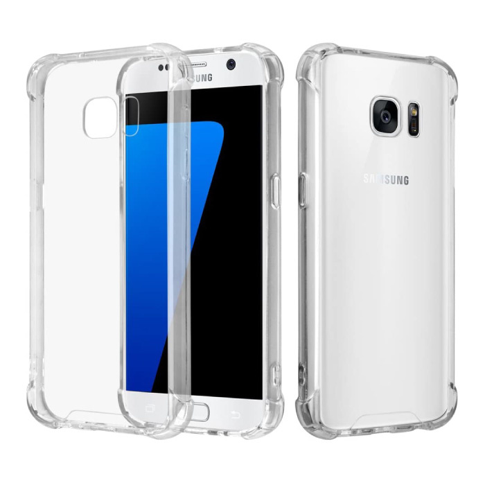 Samsung Galaxy S6 Transparente Stoßstangenhülle - Klare Hülle Silikon TPU Anti-Shock