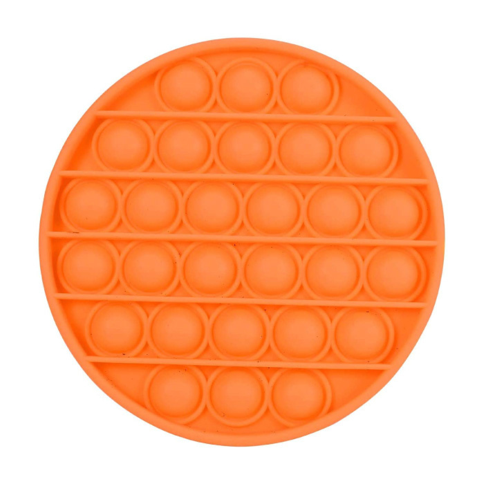 Pop It - Fidget Anti Stress Speelgoed Bubble Toy Siliconen Oranje