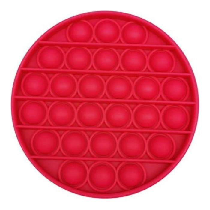 Pop It - Fidget Anti Stress Toy Bubble Toy Silicone Red