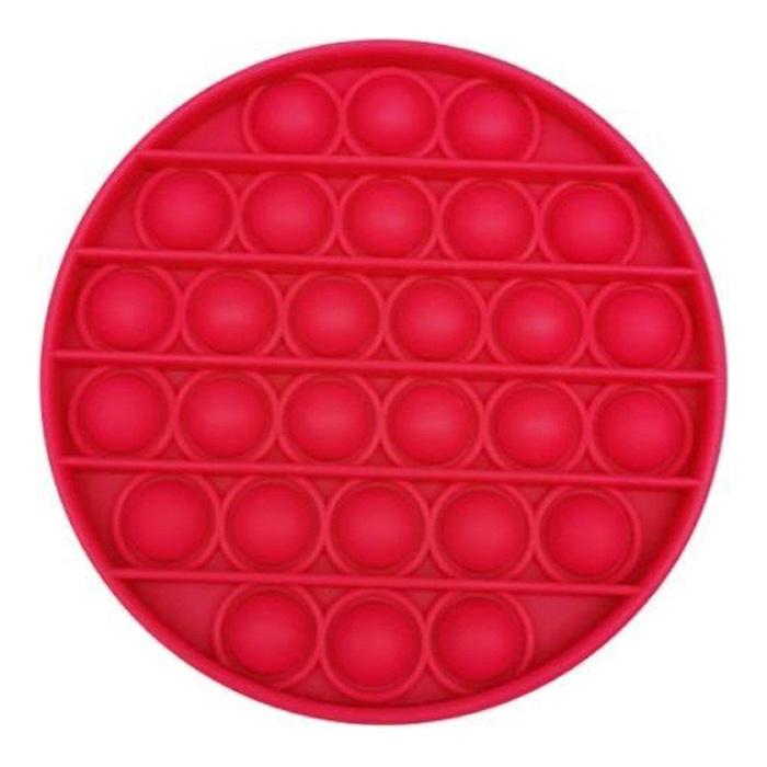 Pop It - Zappeln Anti Stress Spielzeug Bubble Toy Silikon Rot