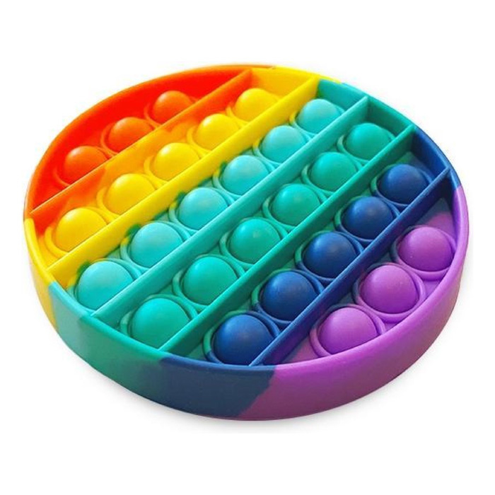 Pop It - Fidget Anti Stress Toy Bubble Toy Arcobaleno in silicone