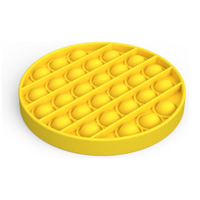 Pop It - Fidget Anti Stress Speelgoed Bubble Toy Siliconen Geel