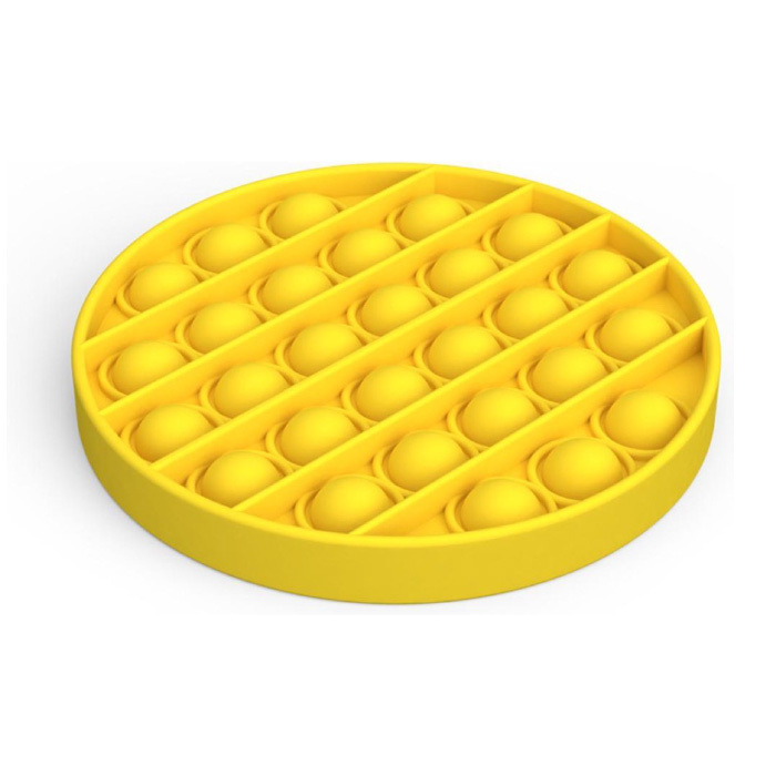 Pop It - Zappeln Anti Stress Spielzeug Bubble Toy Silikon Gelb