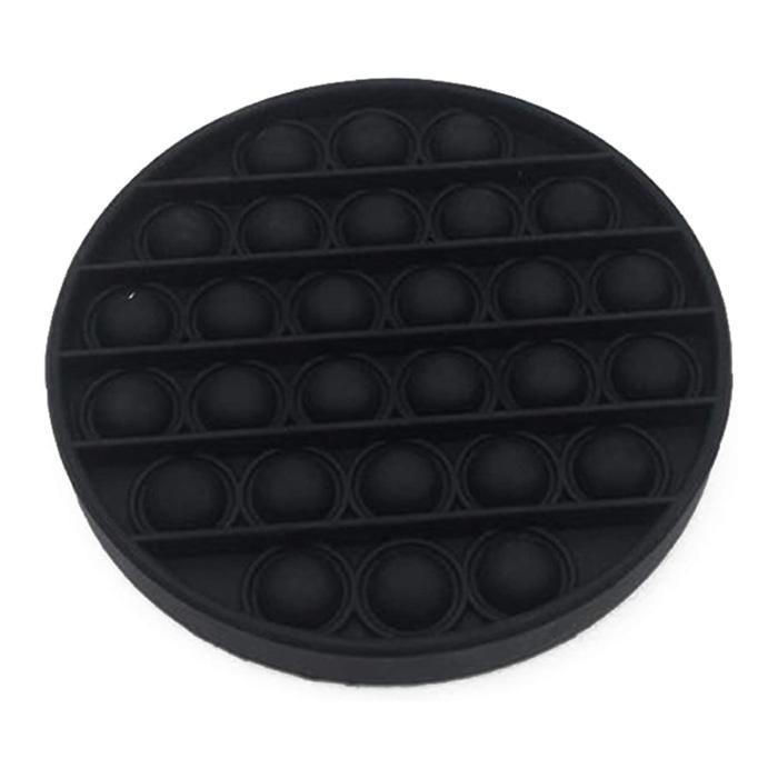 Pop It - Fidget Anti Stress Speelgoed Bubble Toy Siliconen Zwart