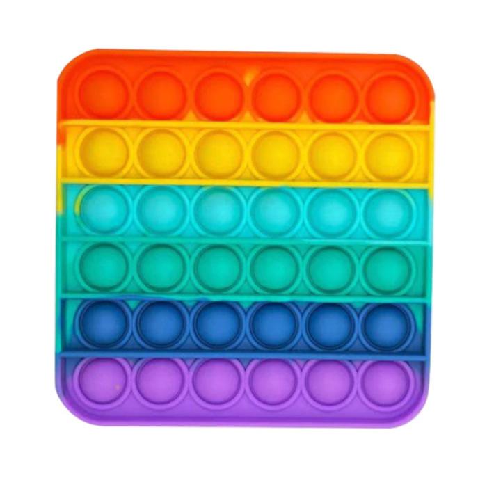 Pop It - Zappeln Anti Stress Spielzeug Bubble Toy Silikon Regenbogen