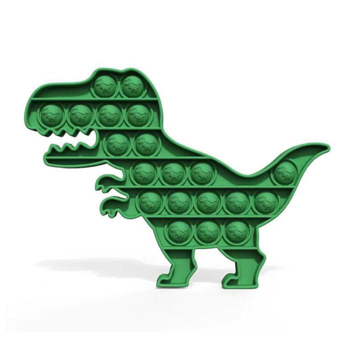 Pop It Dino - Zappeln Anti Stress Spielzeug Bubble Toy Silikon Grün