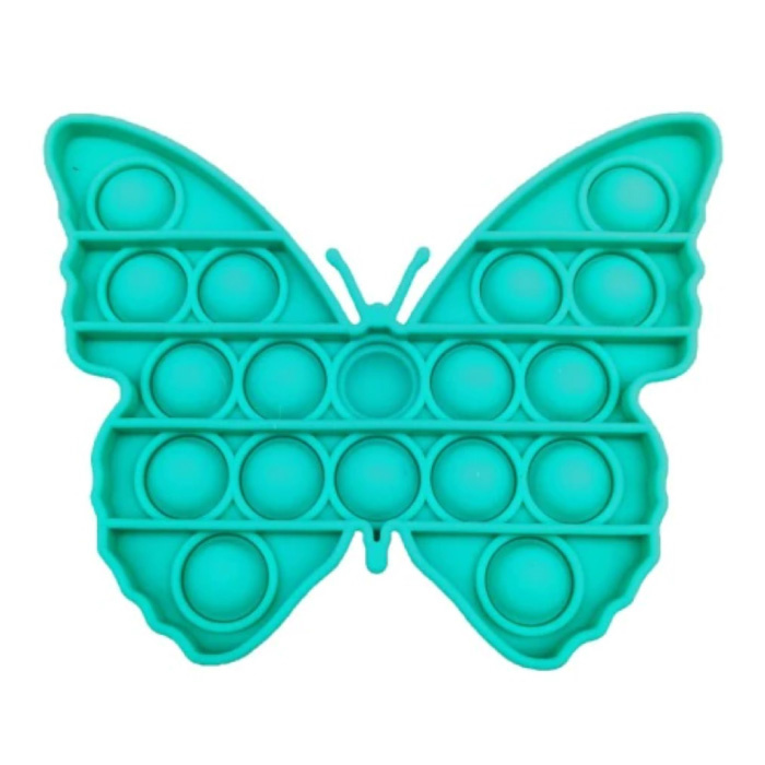 Pop It Butterfly - Fidget Anti Stress Toy Bubble Toy Silicone Blue