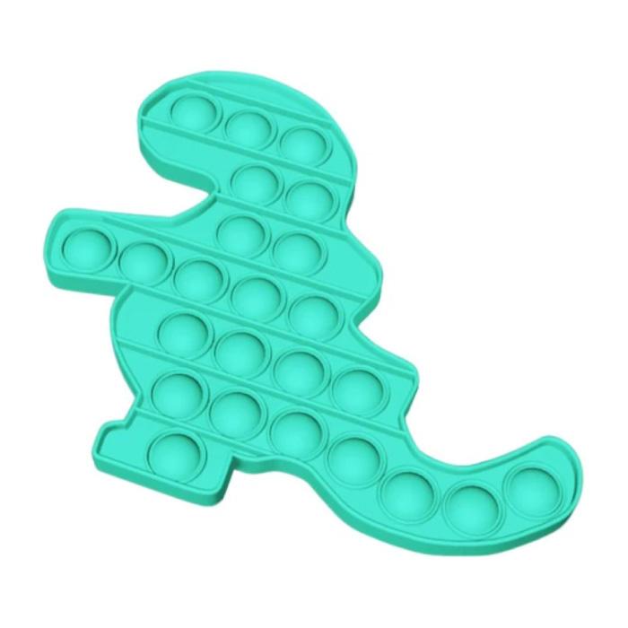 Pop It Dino - Zappeln Anti Stress Spielzeug Bubble Toy Silikonblau