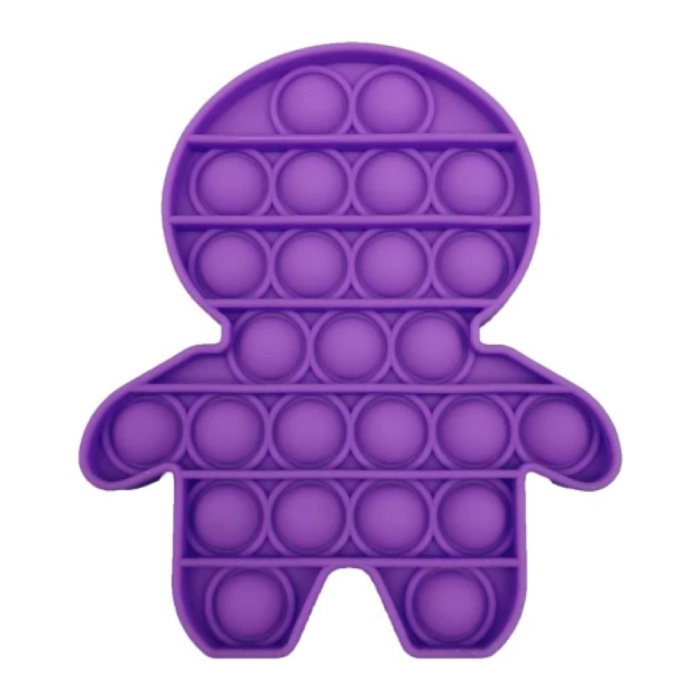 Pop It - Zappeln Anti Stress Spielzeug Bubble Toy Silikon Lila