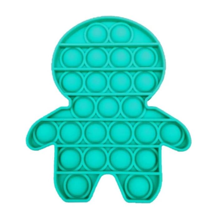 Pop It - Fidget Anti Stress Speelgoed Bubble Toy Siliconen Blauw