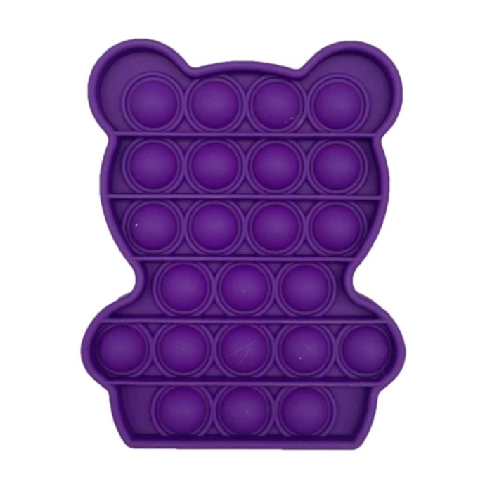 Pop It Beer - Fidget Anti Stress Speelgoed Bubble Toy Siliconen Paars