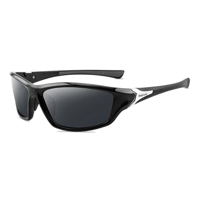 Sport Zonnebril - UV400 en Gepolariseerde Filter voor Mannen en Vrouwen - Zwart