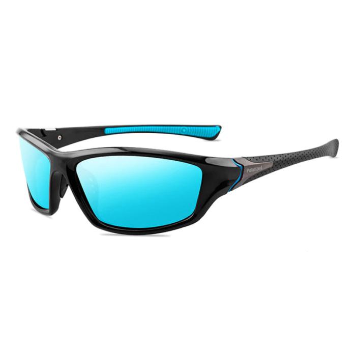 Sport Sonnenbrille - UV400 und Polarisationsfilter für Männer und Frauen - Blau