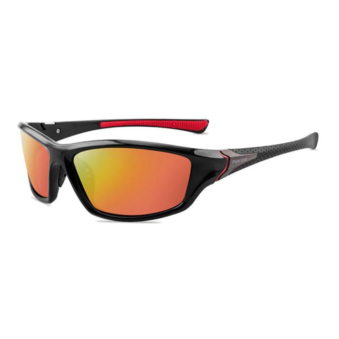 Lunettes de soleil sport - UV400 et filtre polarisé pour homme et femme - Orange
