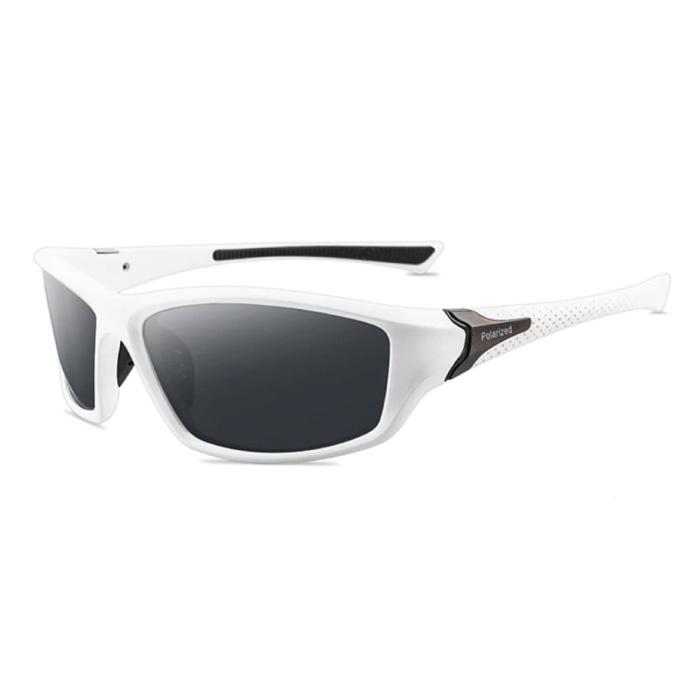 Lunettes de soleil sport - UV400 et filtre polarisé pour homme et femme - Blanc