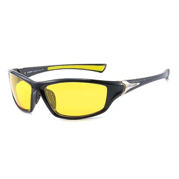 Lunettes de soleil sport - UV400 et filtre polarisé pour homme et femme - Jaune