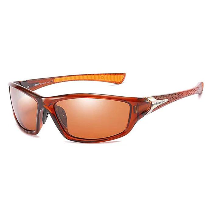 Lunettes de soleil sport - UV400 et filtre polarisé pour homme et femme - Rouge
