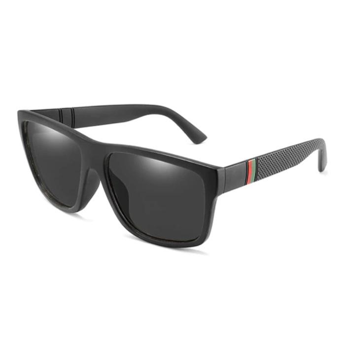 Vintage Zonnebril - UV400 en Gepolariseerde Filter voor Mannen en Vrouwen - Zwart
