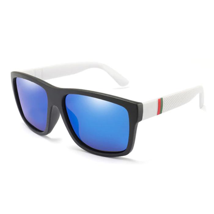 Vintage Zonnebril - UV400 en Gepolariseerde Filter voor Mannen en Vrouwen - Blauw