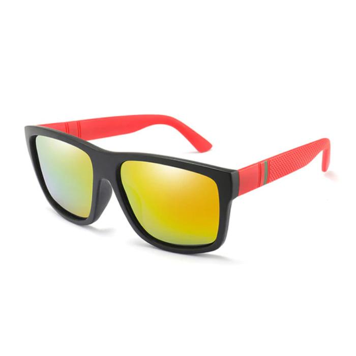 Vintage Zonnebril - UV400 en Gepolariseerde Filter voor Mannen en Vrouwen - Rood