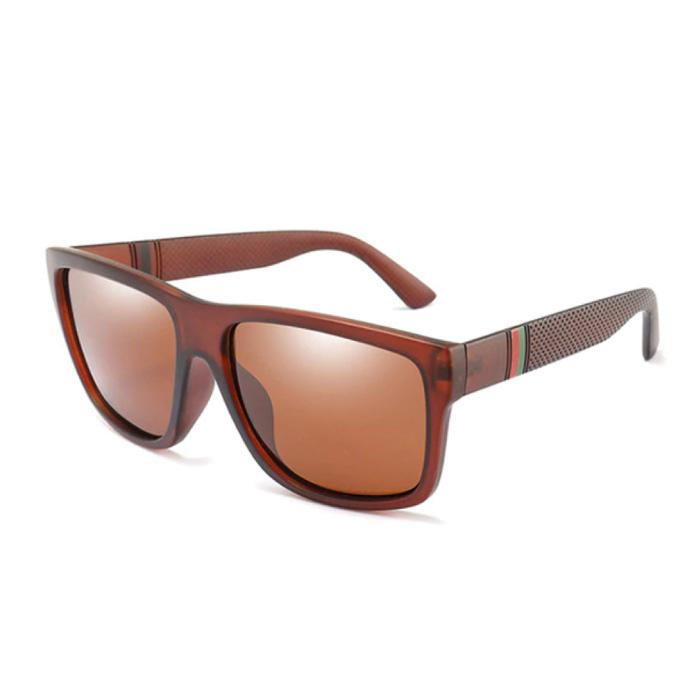 Vintage Sonnenbrille - UV400 und Polarisationsfilter für Männer und Frauen - Braun