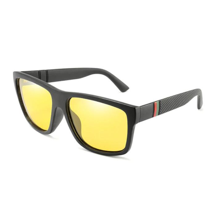 Lunettes de soleil vintage - UV400 et filtre polarisé pour homme et femme - Jaune