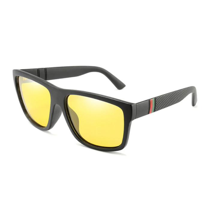 Vintage Zonnebril - UV400 en Gepolariseerde Filter voor Mannen en Vrouwen - Geel